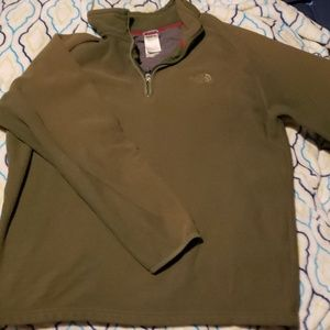 The North Face olive green pullover fleece